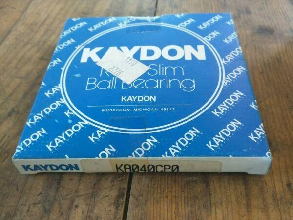 Kaydon Bearing KA040CP0 Radial/Deep Groove Ball Bearing - 4 in ID, 4-1/2 in OD