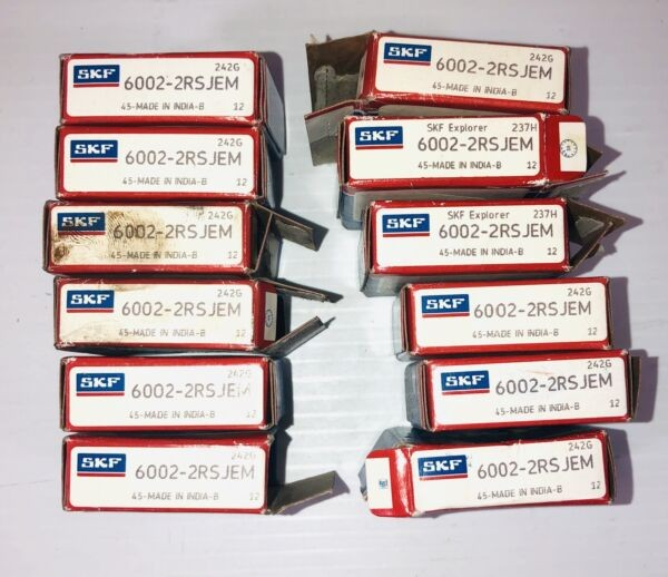 SKF Bearing 6002-2RSJEM (Lot of 12)