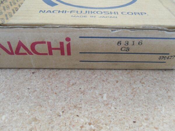 6316 Nachi Bearing Open C3 80x170x39 Made In Japan