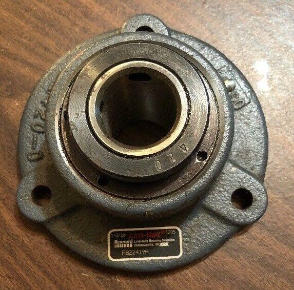Link Belt FB22419H Flange 4 Bolt Sealed Bearing 1-3/16 Bore