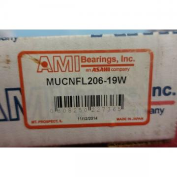 AMI Bearings Asahi MUCNFL206-19W  Set Screw Locking Two-Bolt Flange Unit
