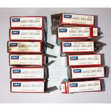 SKF Bearing 6002-2RSJEM (Lot of 12)