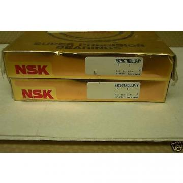 NSK MODEL 7928CTRDULP4Y PRECISION BEARING SET NEW