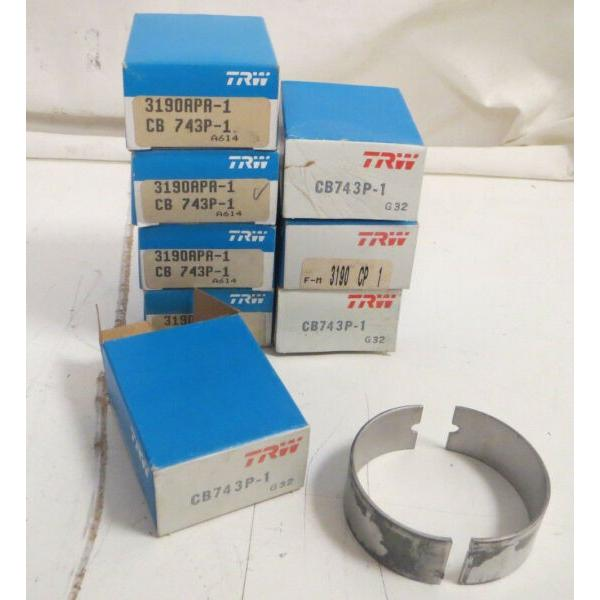 New Lot of 8 Engine Connecting Rod Bearings CB743P-1 TRW Automotive Parts #1 image